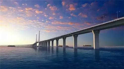 (港珠澳大桥效果图)-以后去香港澳门更加方便了 世界最长跨海大桥